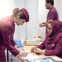 Qatar airways counter