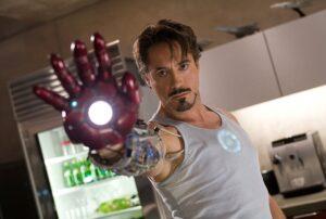Robert Downy junior as Iron man