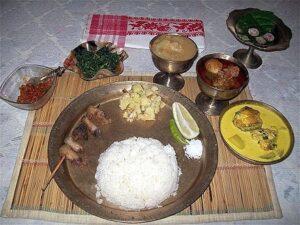 Typical Assamese cuisine
