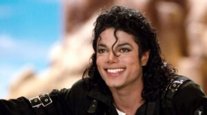 King of pop with smile