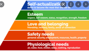 Maslow,s hearchy law of needs