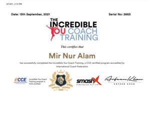 Incredible you coach training certification