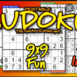 sudoku puzzle for brain power